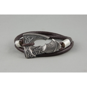 Кожаный браслет с секирой арт. 928