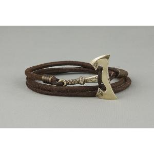 Кожаный браслет с секирой арт. 774