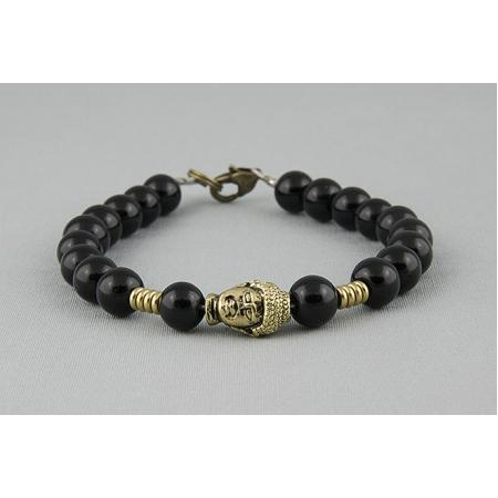 Браслет из бусин с Буддой черный 625
