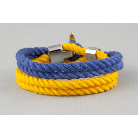 Патриотический браслет из хлопкового шнура купить по лучшей цене