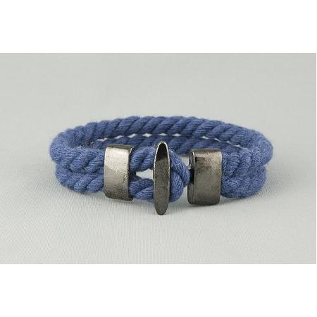Браслет синий хлопковый арт. 339