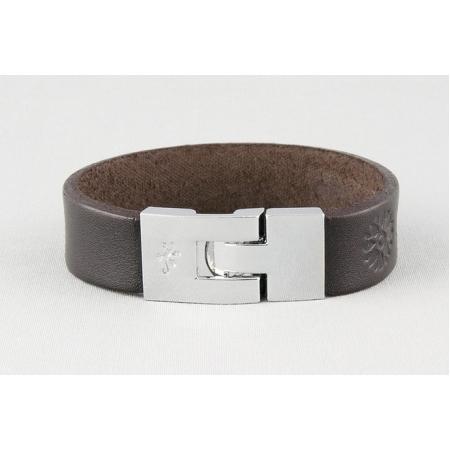 Кожаный браслет с металлической застежкой купить по лучшей цене