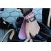 Кожаный браслет ручной работы с серебряным якорем PINK BAY LEATHER