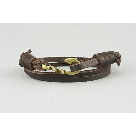 Браслет с крючком из кожаных шнуров купить по лучшей цене
