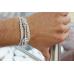 Кожаный браслет ручной работы с серебряным якорем CLIFF WHITE LEATHER
