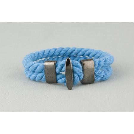 Браслет голубой хлопковый арт. 340