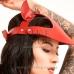 Женская кепи из кожи красная Сap Сat Leather купить по лучшей цене