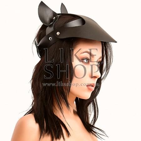 Женская кепи из кожи красная Leather Сap Feline купить по лучшей цене
