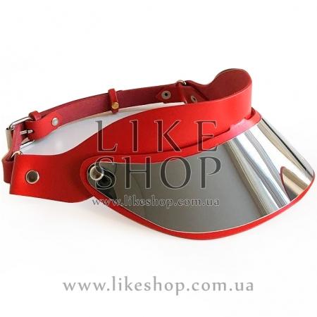 Женская кепи из кожи красная Сap Leather Ares купить по лучшей цене