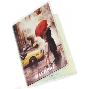 Обложка на паспорт Красный зонт