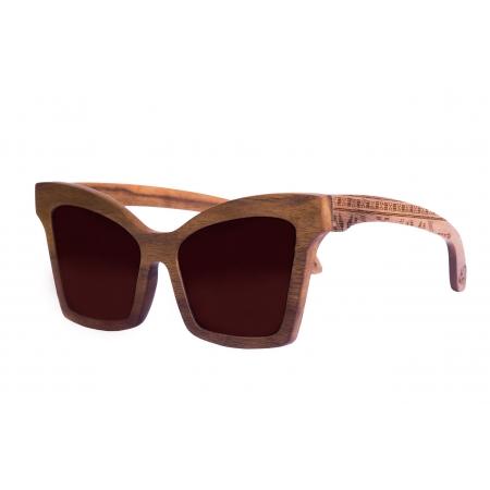 Деревянные очки солнцезащитные Butterfly Walnut