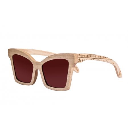 Деревянные очки солнцезащитные Butterfly Maple