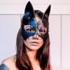 Маска кошки Sexy Cat кожаная