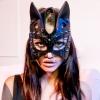 Маска кошки Sexy Cat Mask кожаная
