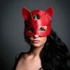 Кожаная женская маска кошки Dr.Harness