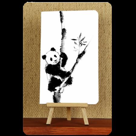 Блокнот дизайнерский Панда черно-белые зарисовки 1