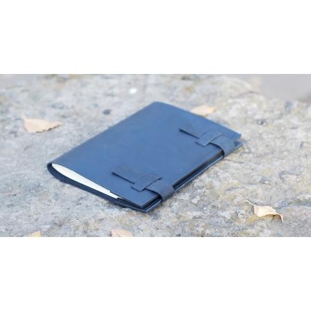 Блокнот в кожаной обложке синий For Notes купить по лучшей цене