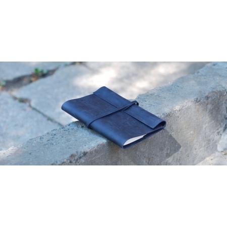 Кожаный блокнот синий купить по лучшей цене