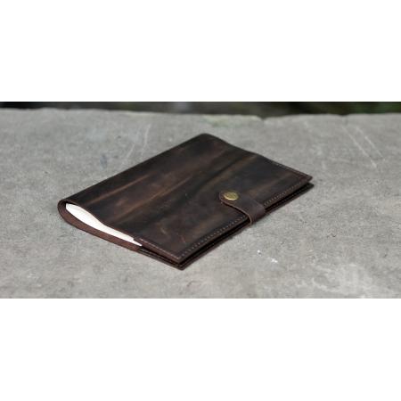Кожаный блокнот коричневый для заметок купить по лучшей цене