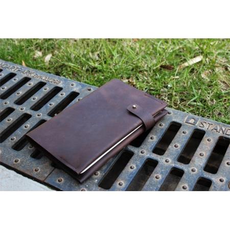 Кожаный блокнот ручной работы коричневый CLIFF NOTEBOOK CHOCOLATE