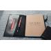 Кожаный блокнот ручной работы черный CLIFF NOTEBOOK BLACK