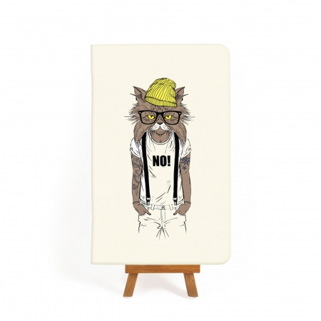 Блокнот дизайнерский Hipster cat 1