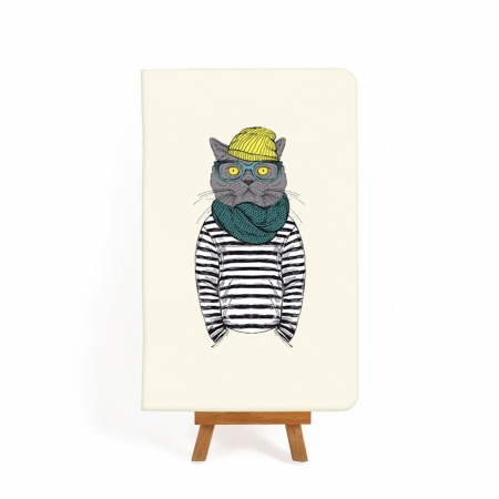 Блокнот дизайнерский Hipster cat 2
