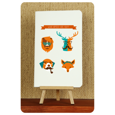 Блокнот дизайнерский Hipster animals 1