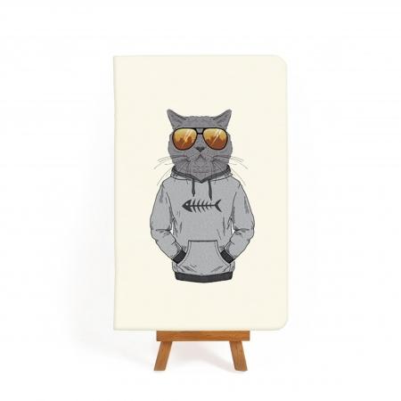 Блокнот дизайнерский Hipster cat 3