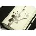 Бокнот Панда черно-белые зарисовки