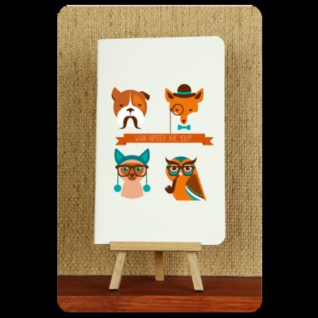 Блокнот дизайнерский Hipster animals 2