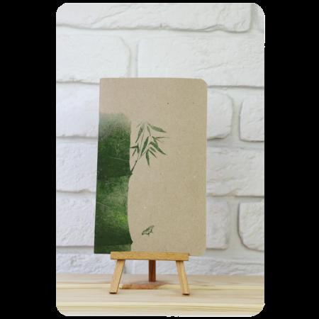 Блокнот дизайнерский Панда мысли о бамбуке3