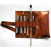 Фото Пенал кожаный для ручек и карандашей Leather Pencil Case