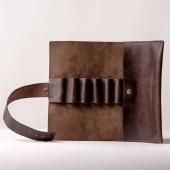 Фото Пенал кожаный коричневый Pencil Box Leather