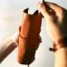 Кожаный пенал для ручек и карандашей рыжий Leather Pencil Case купить по лучшей цене