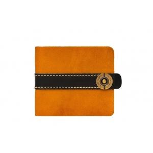 Мужской кожаный кошелек ручной работы Zeta Clip Orange