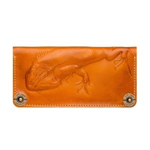 Портмоне кожаное оранжевое Iguana