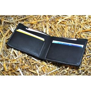 Кожаный мужской кошелек ручной работы Bro Wallet Elegant Black