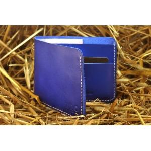 Кошелек мужской кожаный синий Sky Bro Wallet Elegent