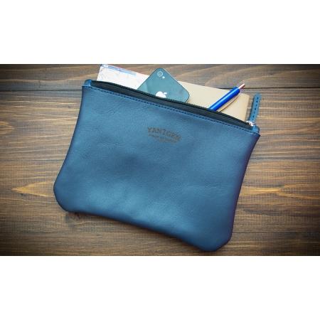 Мужской/женский кожаный клатч ручной работы Roomy Blue купить по лучшей цене
