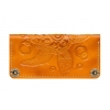 Женское кожаное портмоне ручной работы Turtle Orange
