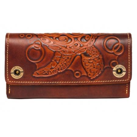 Женский кожаный кошелек ручной работы Tonrtoise Brow