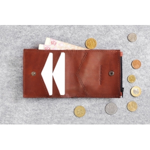 Кожаный кошелек Bro Wallet Elite Brown