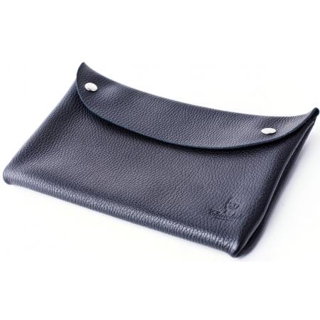 Клатч-конверт (черный флотар)