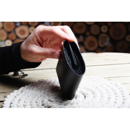 CLIFF II BUBBLE WALLET, BLACK