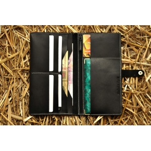 Портмоне кожаное черное Great BRO-wallet