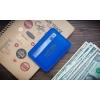 Кожаный кардхолдер ручной работы Rigorous 2 Light Blue