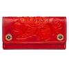 Женский кожаный кошелек ручной работы Alfa Turtle Red