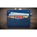 Кожаный бумажник ручной работы Wide Blue купить по лучшей цене