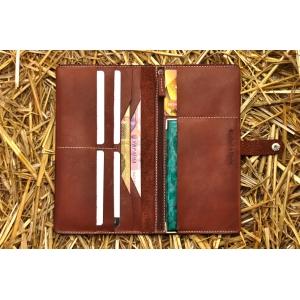 Портмоне кожаное коричневое Great BRO-wallet